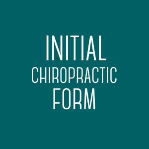 Initial Chiropractic Form