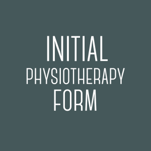 Initial Physiotherapy Form